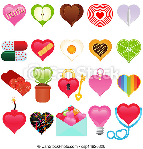 A vector collection of Valentine - csp14926328