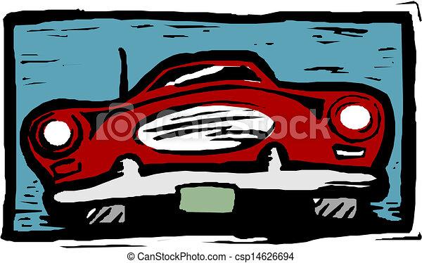 A Vector illustration of car - csp14626694