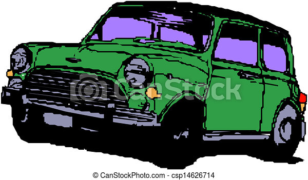 A Vector illustration of car - csp14626714