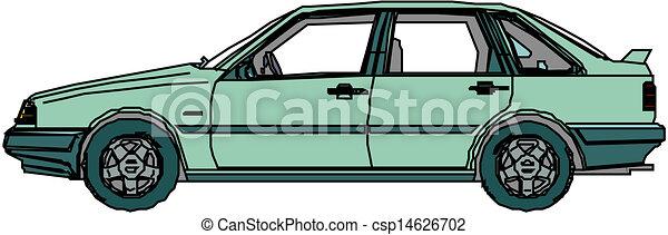A Vector illustration of car - csp14626702