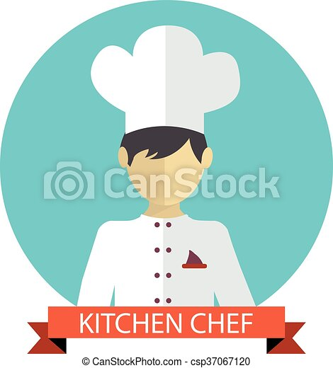 A vector illustration of kitchen chef - csp37067120