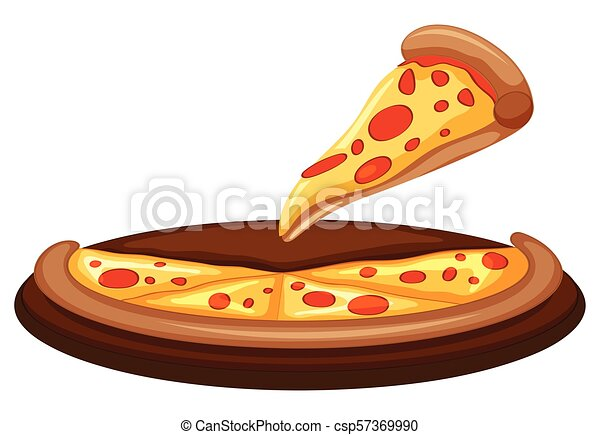 A Vector of Pizza on White Background - csp57369990