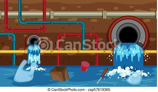 A Vector of Sewer Waste - csp57619365