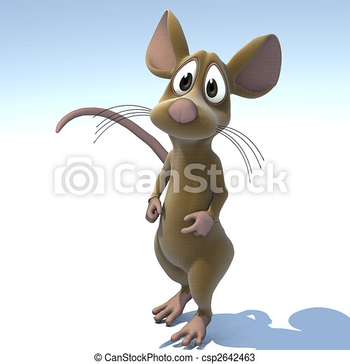 A very cute cartoon mouse made out of plushImage contains a Clipping Path / Cutting Path for the main object - csp2642463