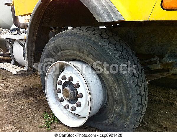 A Very Flat Tire - csp6921428