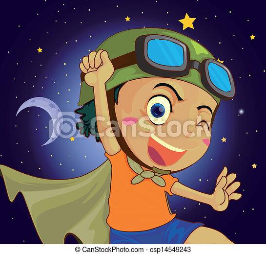 A very happy child - csp14549243