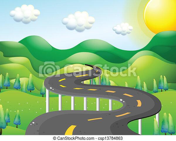 A very narrow road - csp13784863