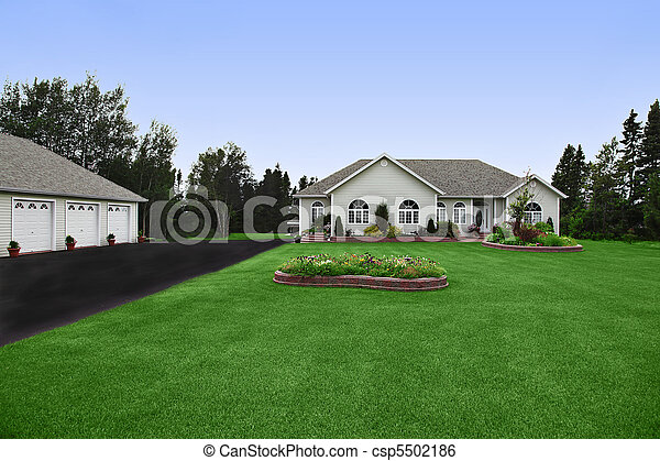 A very neat and tidy home in suburbs - csp5502186