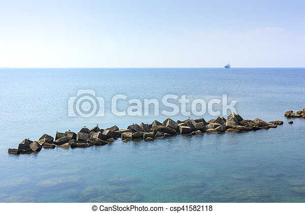 A view of the sea of Gallipoli - csp41582118