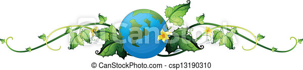 A vine plant border with the earth - csp13190310