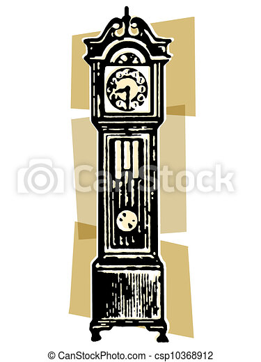 a vintage grandfather clock clipart search illustration drawings rh canstockphoto com Clock Clip Art Time Clock Clip Art