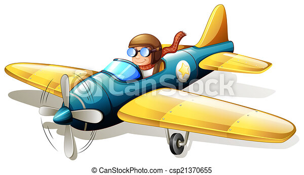 A vintage plane flying - csp21370655