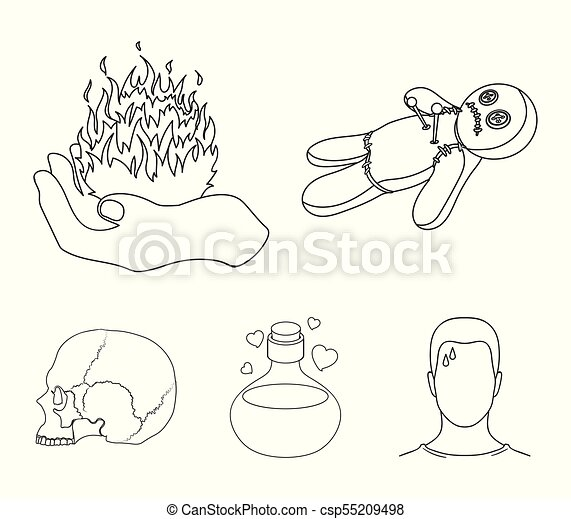 A Voodoo Doll A Magical Fire A Love Potion A Skull Eps