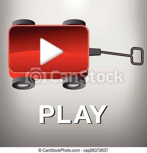 A Wagon - Play Movie Button - csp26372637