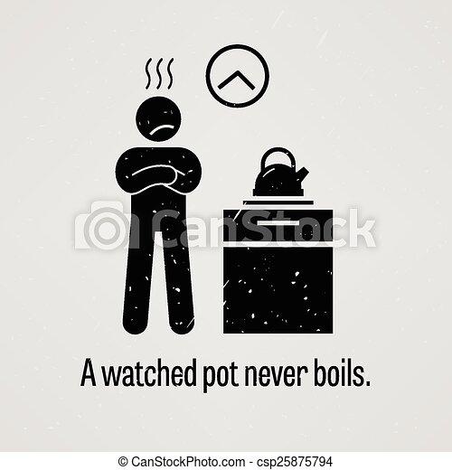 A Watched Pot Never Boils - csp25875794