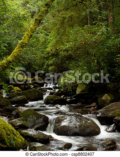 A waterfall in central Ireland - csp8802407