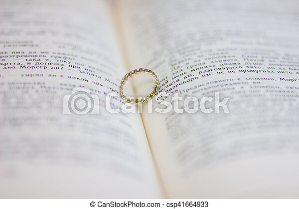 A wedding ring in the bible - csp41664933
