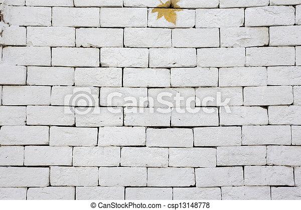 A white brick wall - csp13148778