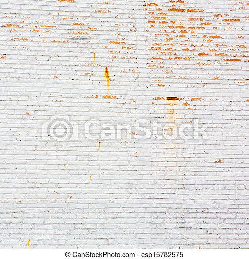 A white brick wall - csp15782575