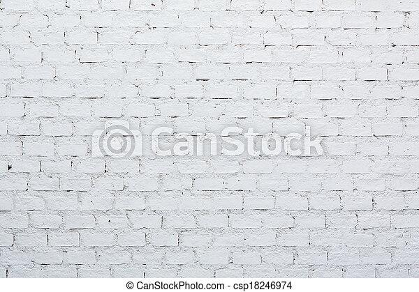 A white brick wall - csp18246974