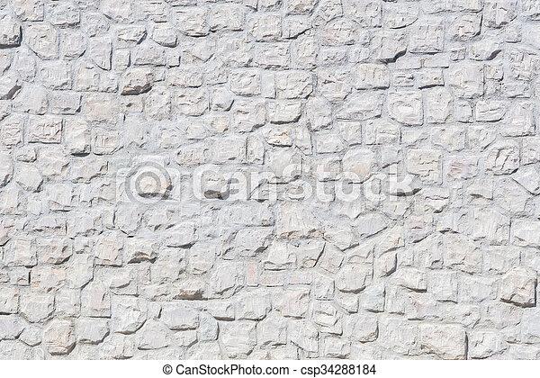 A white brick wall - csp34288184