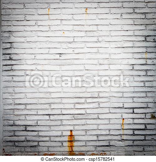 A white brick wall - csp15782541