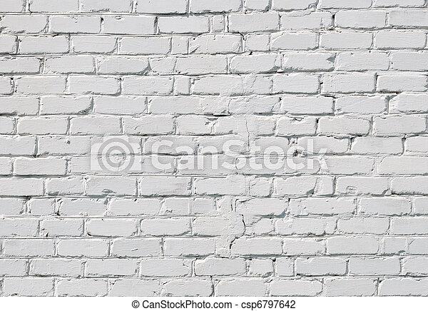 A white brick wall - csp6797642
