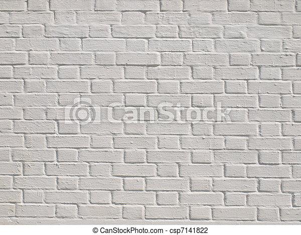 A white brick wall - csp7141822