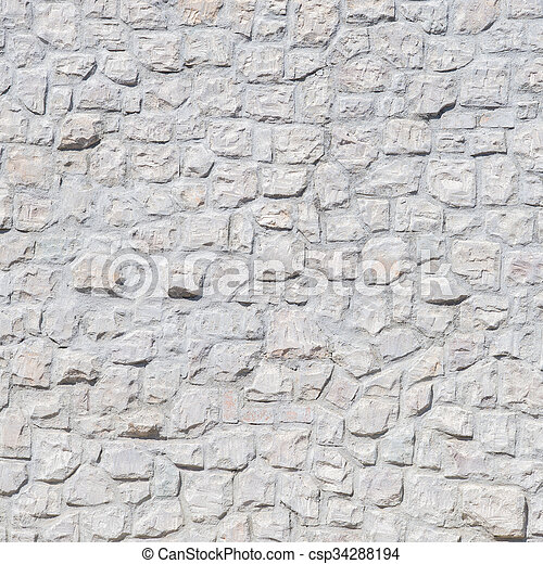A white brick wall - csp34288194