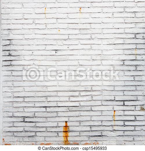 A white brick wall - csp15495933