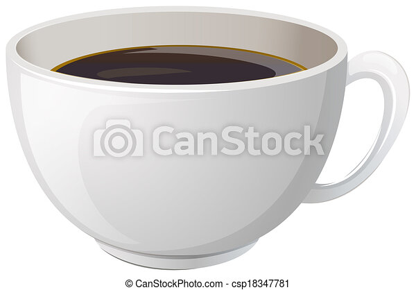 A white cup with coffee - csp18347781