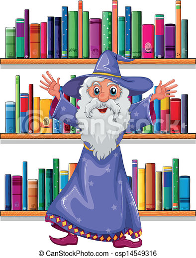 A wizard in the library - csp14549316