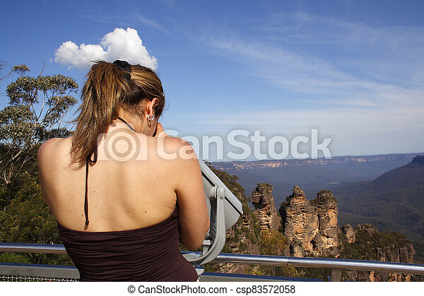 A woman at the lookoutlookout - csp83572058