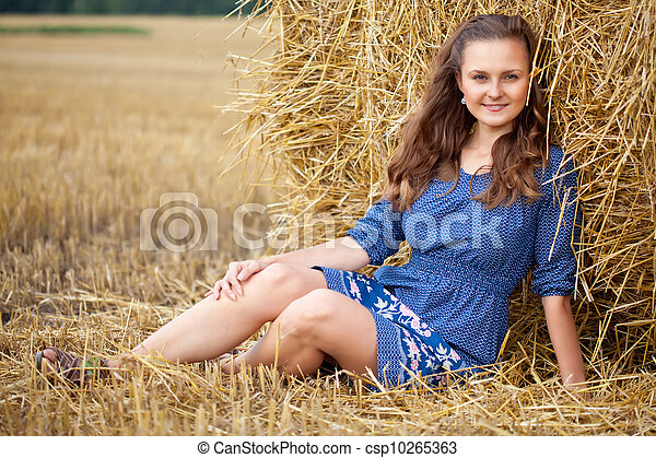 A woman in the field - csp10265363