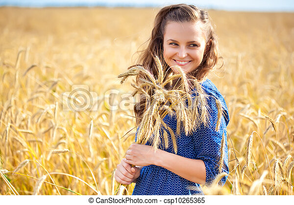 A woman in the meadow - csp10265365