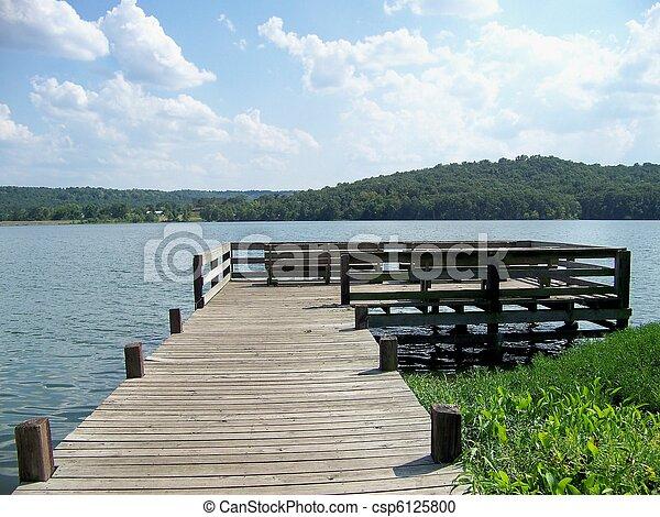 A Wooden Dock - csp6125800