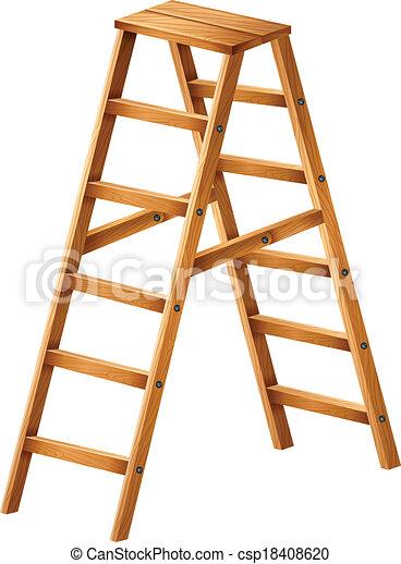 A Wooden Ladder Vector