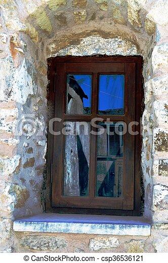 A wooden window - csp36536121