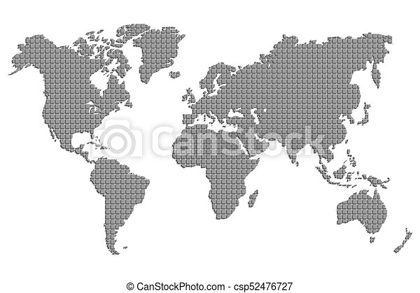 A world map of squares vector illustration black mosaic template a world map of squares vector illustration black mosaic template for media design and business infographics website design cover annual reports gumiabroncs Image collections