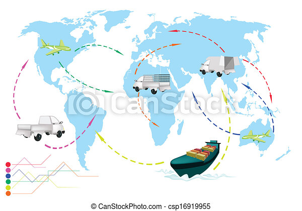 A world travel map of transportation vehicles detailed illustration a world travel map of transportation vehicles csp16919955 gumiabroncs Image collections