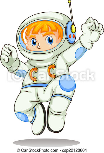 A young astronaut - csp22128604