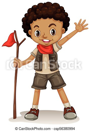 A young Boy Scout - csp56380994