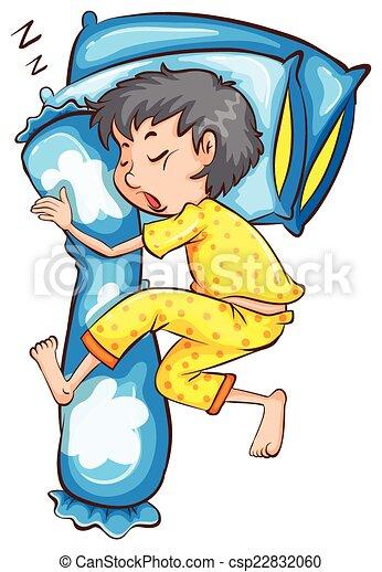 A young boy sleeping soundly - csp22832060