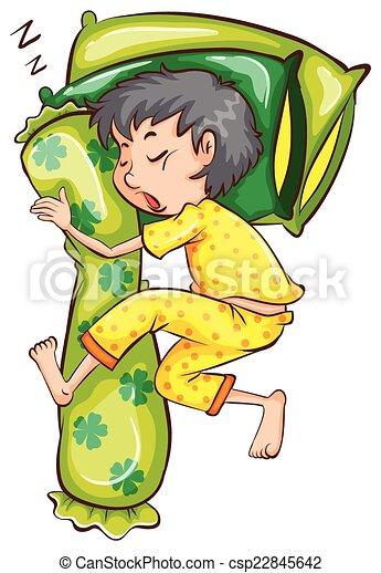 A young boy sleeping soundly - csp22845642