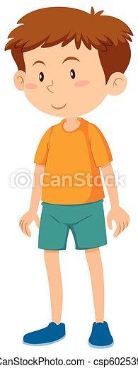 A Young brunette boy - csp60253925