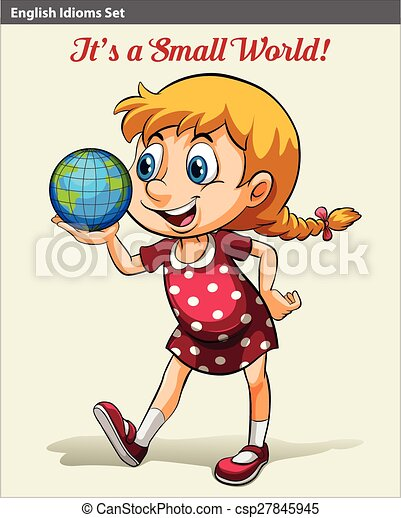 A young girl holding the globe - csp27845945