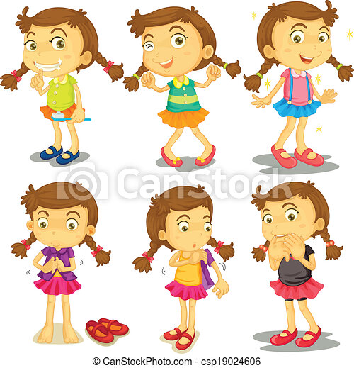 A young girl - csp19024606