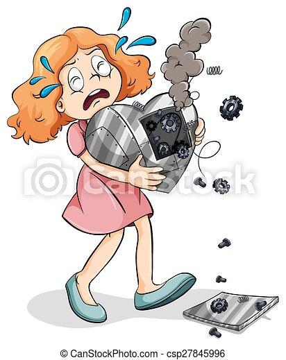 A young girl with a broken heart - csp27845996