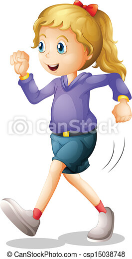 A young lady jogging - csp15038748