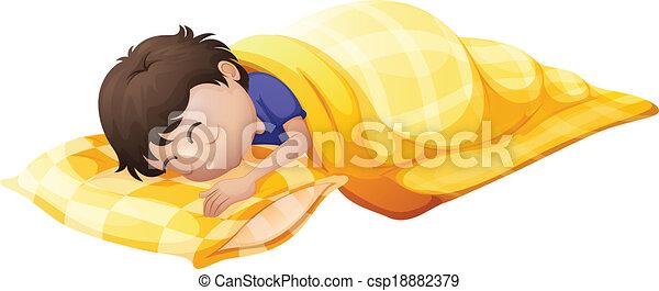 A young man sleeping soundly - csp18882379